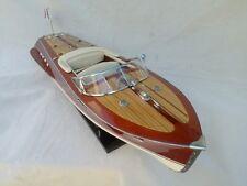 "Cedar Wood Riva Tritone 24"" Quality Model Boat Cream Seat L60 Christmas Gift"