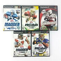 Lot Of 5 Playstation 2 (PS2) Football Games From 2001-2005 Madden NCAA EA Sports