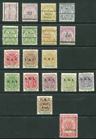 South Africa - Transvaal - collection of 18x unmounted mint stamps - DF017