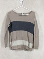 Joie Cashmere lambswool hand wash size medium angora blend sweater gray tan