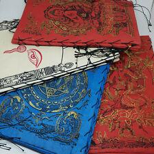 Lokta paper Lamp shade Nepal, Buddha, Endless chain, buddha eye, Red, blue color