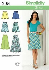 Simplicity Sewing Pattern 2184 Misses Ladies Skirts Two Lengths Size 14-22 Uncut