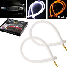 45CM Flexible Tube LED Strip DRL Daytime Running Light Flowing Turn Signal Lamp