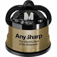 AnySharp Mondial Gold World's Best Aiguiseur de couteaux Brand New Genuine UK Stock