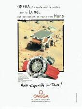 Publicité Advertising 087  1998  montre Omega  speedmaster chrono  lune Mars