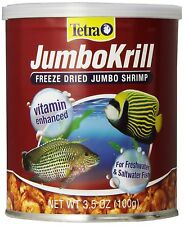 TETRA JUMBO KRILL FREEZE DRIED 3.5 OZ FISH FOOD JUMBO SHRIMP. IN USA