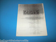 Data East BAD DUDES VIDEO ARCADE GAME SERVICE INSTRUCTION MANUAL