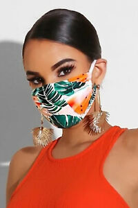Stoffmaske Maske Baumwollmaske Nasen Mund Gesichtsmaske - leafs