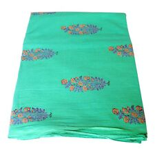 Indian Hand Block Printed Cotton Voile Fabric Dress Sewing Material 5 Yards