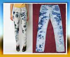 NWOT RARE Levis Skinny 631 Jeans Tie Dye Bleach wash Size 9 M Sexy unique print