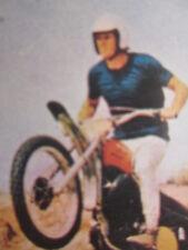 Steve McQueen Movie Star Trading Card Vintage Motorcycle Swedish 70s