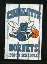 Charlotte Hornets--1998-99 Pocket Schedule--Sprite