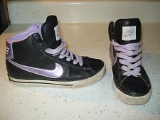 Nike Sweet Classic High Girl's Athletic Shoes Size 5 Y L@@K !!! Purple Black