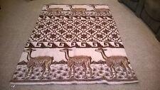 HUANCATEX Peru Alpaca Wool Blanket  Throw 63 X 87 Double Sided Reversible