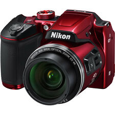 "Nikon Coolpix B500 16MP Digital Camera with 3"" LCD & 40x Optical Zoom in Red"