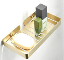 Bathroom Brushed Gold Solid Soap Dish,Stainless Steel Wall Mounted Soap Holder