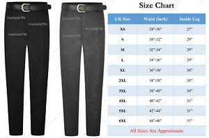 Boys Extra Sturdy Fit Plus Fit School Uniform Trouser Black Grey Regular Length
