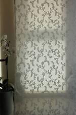 """Antico Avorio scozzesi puro cotone MADRAS pizzo Curtain Panel 47"""" x 70"""" individui"""