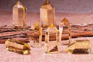 AAAAA Clear Citrine Crystal Quartz Tower Points, Obelisk Pyramid Healing Wand