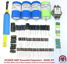 Studer A807 tape recorder ESSENTIAL capacitor upgrade overhaul kit
