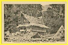 cpa Briefkaart INDONESIA SUMATRA WOONHUIS van een INLANDER Maison d'un Indigène