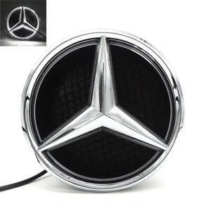 Deep Dish Car Led Grill Badge Logo Emblem Light For Mercedes Benz GLC GLS 15-19
