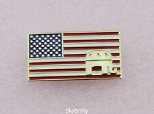 US American Flag Republican Patriotic Elephant Flag Lapel Pin