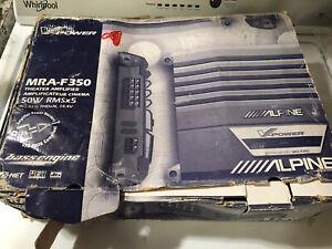 ALPINE MRA-F350 5 Channel Dolby Digital Pro Logic Theater Amplifier 50w RMSx5