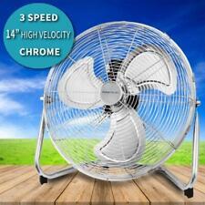 """18/"""" Chrome High Velocity industrielle 3 Vitesse Gratuit Debout Grand Gym Sol Fan UK"""