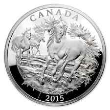 Canada 2015 - 125$ Canadian Horse - 1/2 Kilo / 500g. Silver Proof Coin Nature
