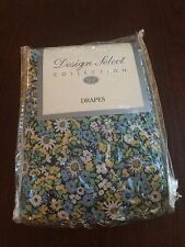 "New - Cotton Speckeled Floral Print Drapes Design Select 80"" x 84"""