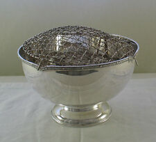 Silver Rose Bowl with Applied Art Nouveau Border Mappin & Webb Silver Rose Bowl
