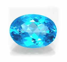 Natural Swiss Blue Topaz 14mm x 10mm Oval Cut Gem Gemstone