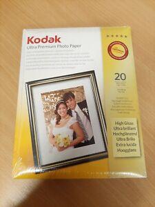"Kodak Ultra Premium Photo Paper High Gloss - 20 Sheets - 5x7"" (13x18cm) 3937950"