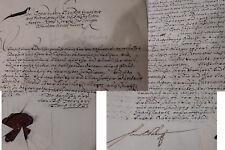 Arnold von Waldois, Fürstabt Corvey: Signiertes Schreiben 1653 für von Syvertes