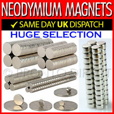 Neodymium Magnets N35 Super Strong Disc Rare Earth Craft Hobby Disk All Sizes
