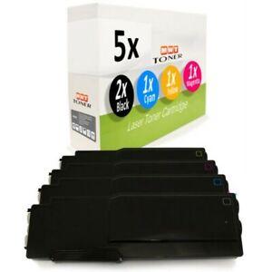 5x Cartouche de Toner XXL Pour Dell C-3760-nw C-3760-dnt C-3765-dnw