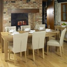 Solid Wood Extending Rectangular Table & Chair Sets
