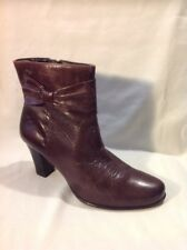 Caprice Brown Ankle Leather Boots Size 5.5