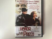 EL HONOR DE LOS PRIZZI  DVD JACK NICHOLSON KATHLEEN TURNER JOHN HUSTON