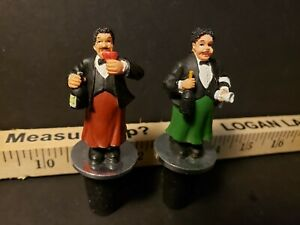 Wine Stoppers - 2 Piece Set - Green and Red - Mario and Luigi - Italian