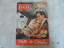PHOTO ROMAN DESSINE DUO ILLUSTRE N°31 01/11/1957 DETTE DE COEUR     H35
