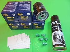 5x Ölfilter + Bremsenreiniger Seat Leon (1P) 1.6 Benziner (75kW/102PS)