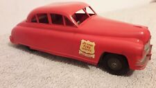 METTOY VINTAGE PLASTIC FRICTION DRIVEN CAR JOY TOWN FIRE SERVICE FIRE CHIEF