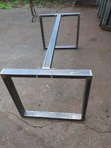 METAL TABLE FRAME RETRO INDUSTRIAL STEEL DESK BAR BREAKFAST ISLAND