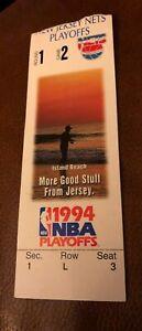 New Jersey Nets New York Knicks 1994 NBA Playoff Game 3 Ticket Derrick Coleman