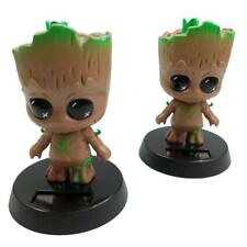 Guardians of The Galaxy Groot Solar Powered Swinging Head Figure Doll Car Gift