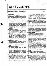 Wega Original Service Manual für studio 3210