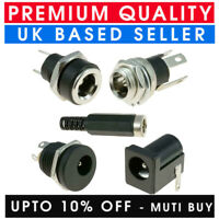 1.3/2.1/2.5MM X 5.5MM DC POWER SOCKET JACK CONNECTOR MALE FEMALE PANEL MOUNT PCB