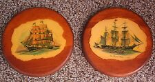 Ma Leck Round Wall Hangings New Bedford Whaler & Old Ironsides Nautical Ships